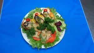 牡蠣燻製オードブル